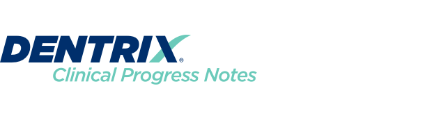Dentrix Clinical Progress Notes